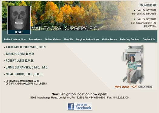 Valley Oral Surgery's old website didn't work on iPhones or iPads and was outdated.