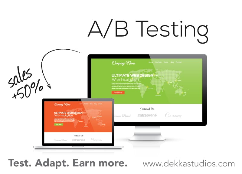 A/B Split Testing increases your web conversions and profitability